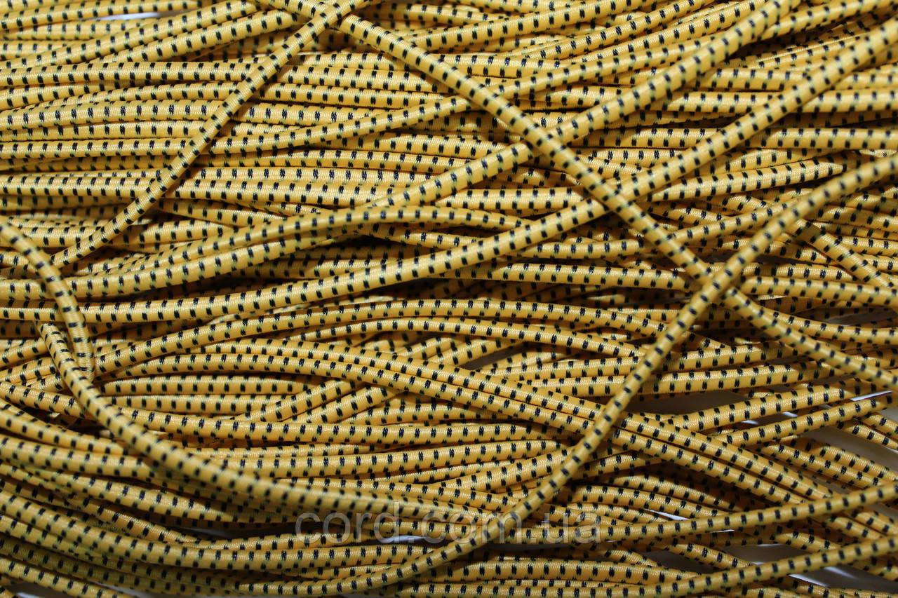 Резинка шляпная, круглая 2,5мм 50м желтый + черный