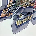 10607-1, павлопосадский платок хлопковый (батистовый) с швом зиг-заг, фото 2