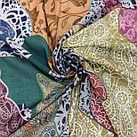 10607-1, павлопосадский платок хлопковый (батистовый) с швом зиг-заг, фото 7
