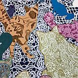 10607-1, павлопосадский платок хлопковый (батистовый) с швом зиг-заг, фото 4