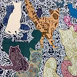 10607-1, павлопосадский платок хлопковый (батистовый) с швом зиг-заг, фото 6