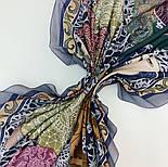 10607-1, павлопосадский платок хлопковый (батистовый) с швом зиг-заг, фото 8
