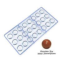 Форма поликарбонатная сфера для конфет 24 ячейки
