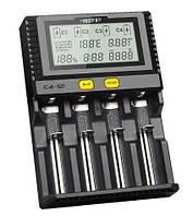 Зарядное устройство Miboxer C4-12 LCD 4 слота для 18650 26650 AAA Li-ion Ni-MH Ni-Cd