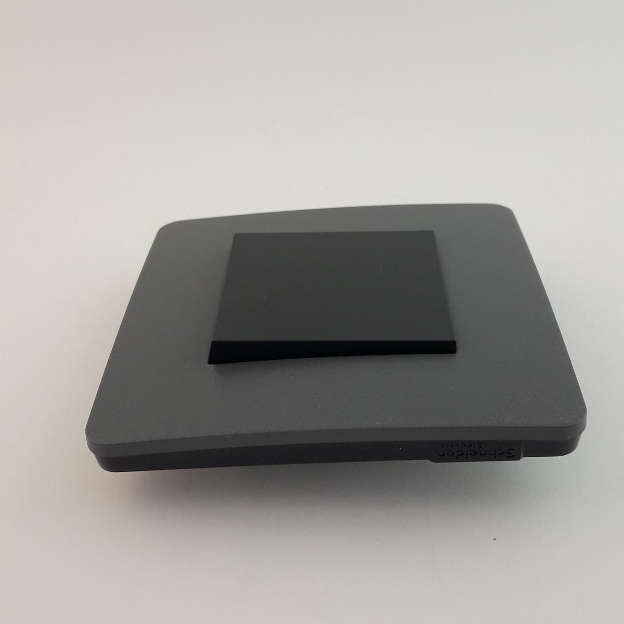Рамка 3 постовая Studio Color, дымчато-серый/антрацит, 3х2 модуля