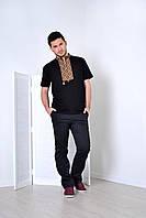 Модная молодежная мужская вышиванка с орнаментом и надписью Слава Украине
