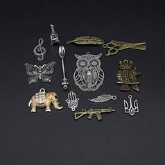 Подвески, тризубы, брелоки, кулоны, сувениры, заготовки для цепочок и бусин.