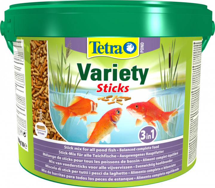 Корм для прудовых рыб Tetra Pond Variety Sticks 10 л / 1,65 кг 137004