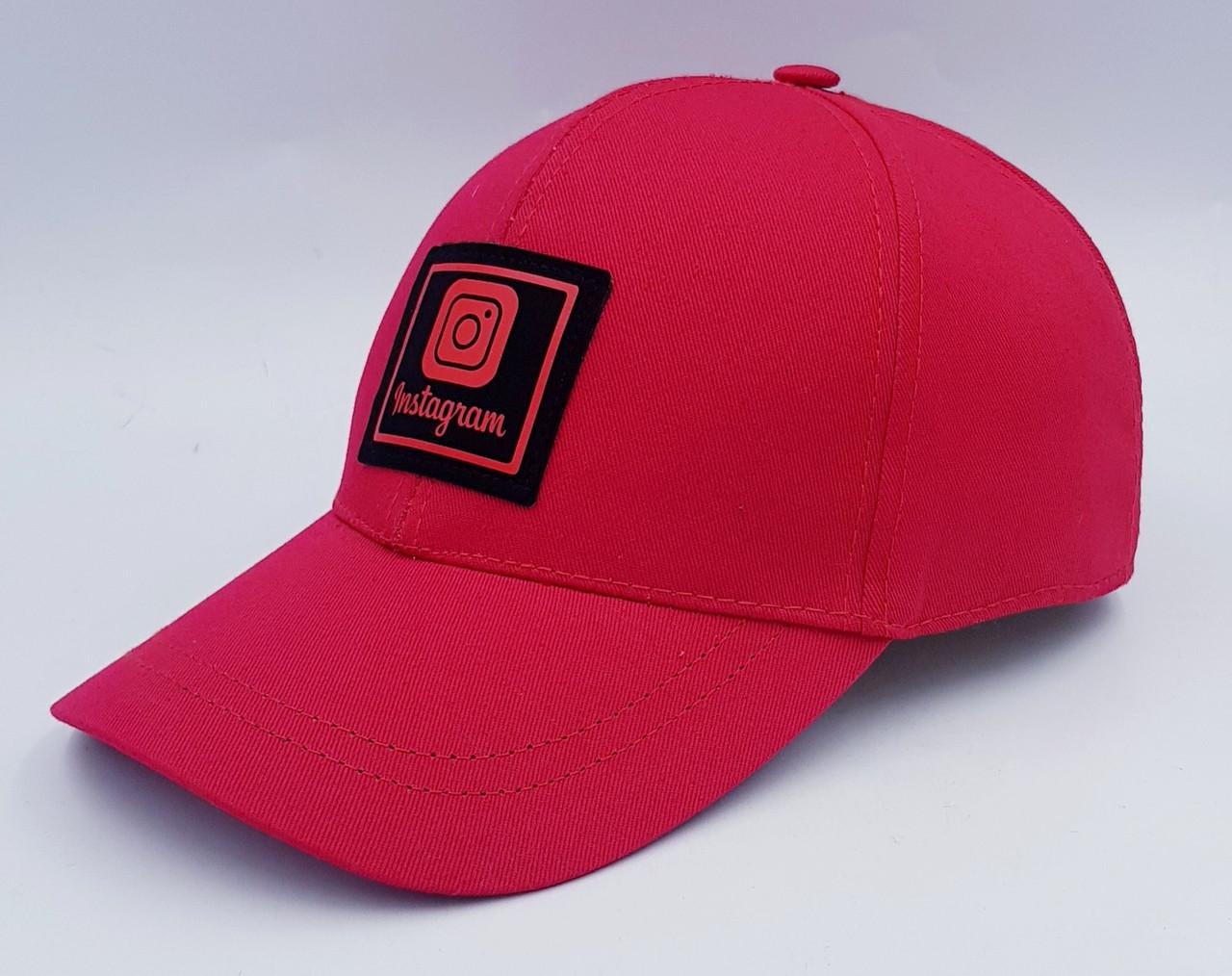 Женская бейсболка Klaus Коттон по стилю Инстаграм  Демисезон (53-55, 55-58) Красный (024- К)