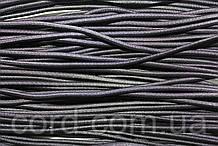 Резинка шляпная, круглая 3,5мм (50м) черная