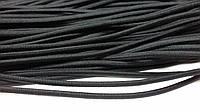 Резинка шляпная, круглая 4мм (50м) черная