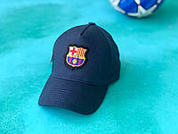 Бейсболка с логотипом FC Barcelona спортивная кепка Темно-синяя