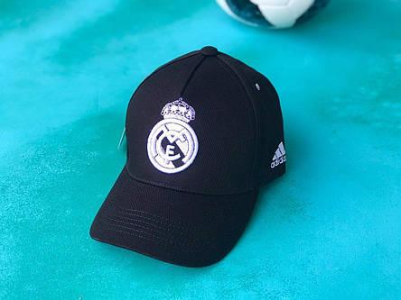 Бейсболка с логотипом Реал Мадрид кепка с козырьком Черная, фото 2