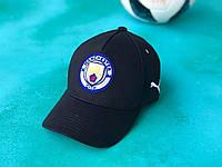 Бейсболка кепка с логотипом FC Manchester City Черная