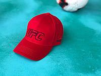 Бейсболка спортивная кепка с логотипом UFS красная