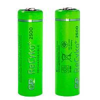 Аккумуляторная батарейка АА (пальчиковая) GP 1шт R06 2500mA ReCyko 250AAHC-2GBE