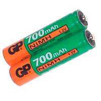 Аккумуляторная батарейка ААА (минипальчиковая) GP 1шт R03 700mA 70AAAHC-UC2