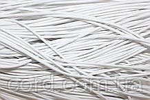 Резинка шляпная, круглая 3мм (50м) белый