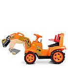 Детский электромобиль трактор Bambi M 4142L-7 оранжевый, фото 2