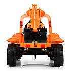 Детский электромобиль трактор Bambi M 4142L-7 оранжевый, фото 3