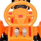 Детский электромобиль трактор Bambi M 4142L-7 оранжевый, фото 4