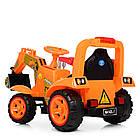 Детский электромобиль трактор Bambi M 4142L-7 оранжевый, фото 5