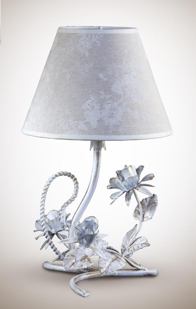 Настольная лампа с абажуром в стиле прованс 6700-5