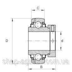 Подшипник тройное уплотнение UEL305D1W3, EX305G2, GNE25KRRB, AH168161, AH129451, фото 2