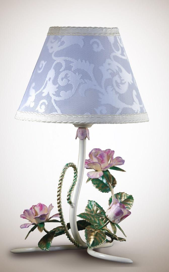Настольная лампа с абажуром в стиле прованс 6700-2