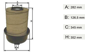 Фильтр воздушный MB Atego I, II, III, Axor II   0030949604