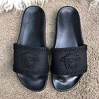 Versace Slide Sandal Medusa Black