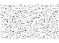 Обои - раскраски Веселые коты 60х100см