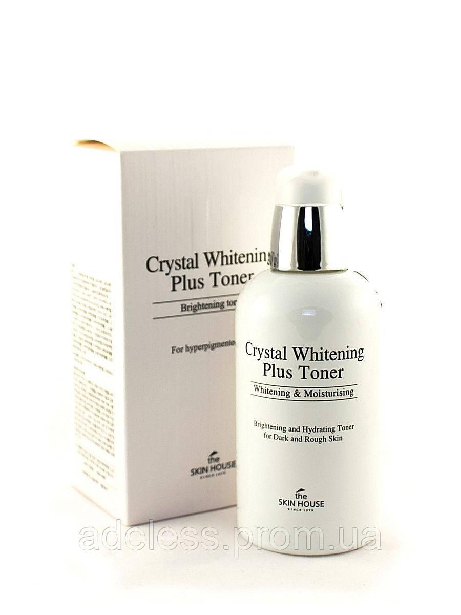 Осветляющий и восстанавливающий тонер для лица The Skin House Crystal Whitening Plus Toner, 130 мл
