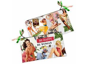Косметичка-кошелек Be happy- Be woman