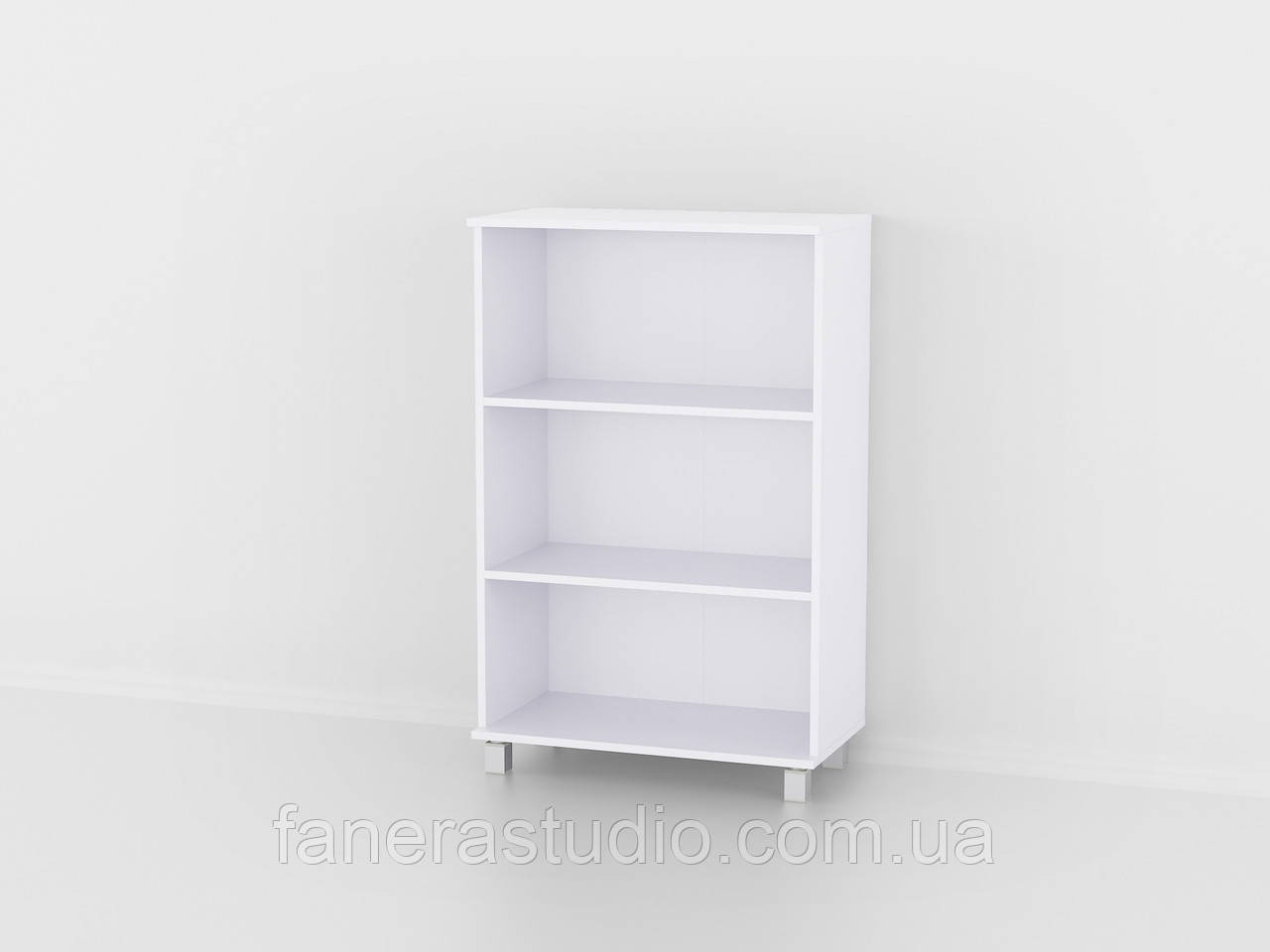 Полиця для книг, стелаж для дому з задньою стінкою на три полиці