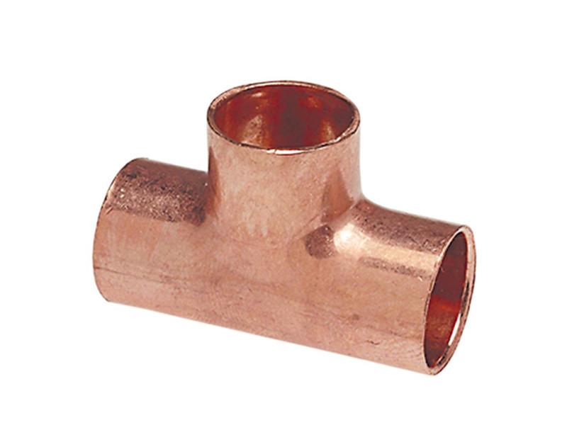 """Трійник мідний для мідної труби 2.5/8"""" (66,68 мм)"""
