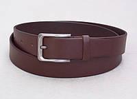 Кожаный мужской коричневый ремень для джинс и брюк