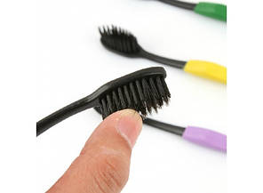 Бамбуковые зубные щетки 4шт. Черные
