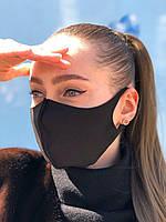 Маска защитная для лица многоразовая Питта maska pitta черного цвета