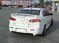 Спойлер багажника Mitsubishi lancer X (митсубиси лансер Х (10) 2007+)