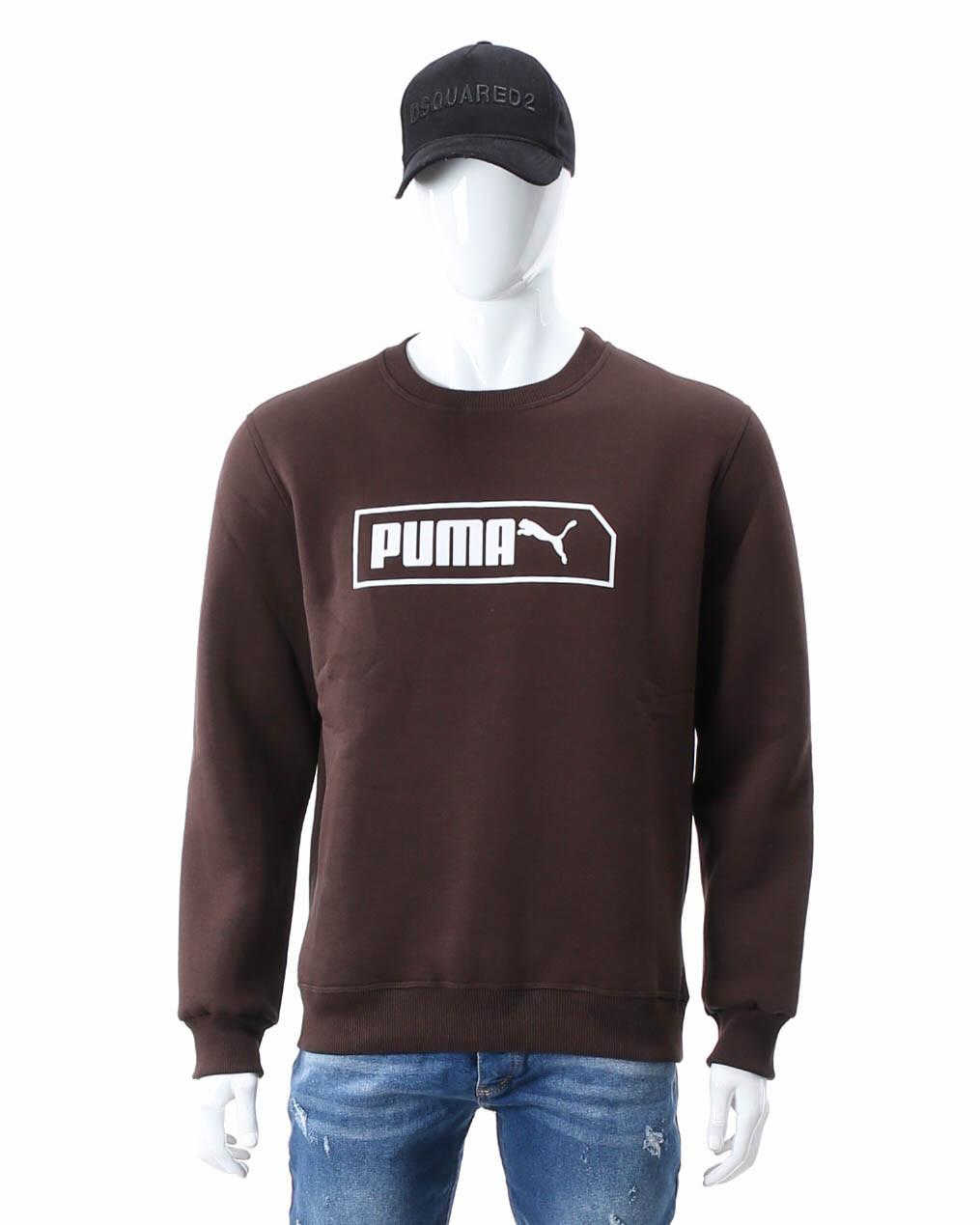 Свитшот осень-зима коричневый PUMA с лого BRN 2XL(Р) 20-411-003