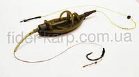"Рыболовная кормушка на карпа Метод ""Flat Feeder"", вес 80 грамм, фото 1"