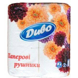 Рушники паперові Диво 2 рулону, 2 шару, фото 2