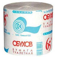Туалетная бумага Обухов 30040 65 м, серая, 48 штук