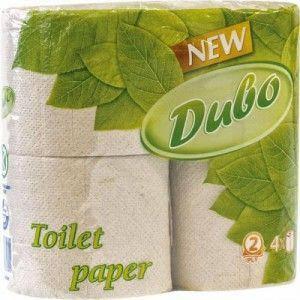 Туалетная бумага ДИВО туалетная бумага 2 слоя, 4 рулона, серая, фото 2