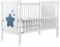Кровать Babyroom Звездочка Z-01 (откидной бок, колеса) бук белый