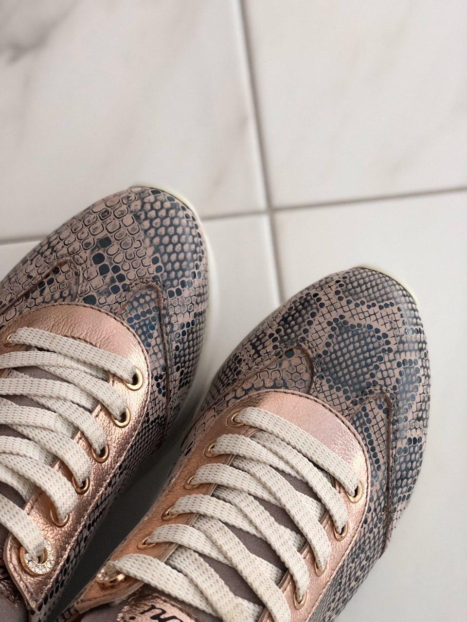 Кожаные женские кроссовки Carlo Pachini 4505 репт размер 38