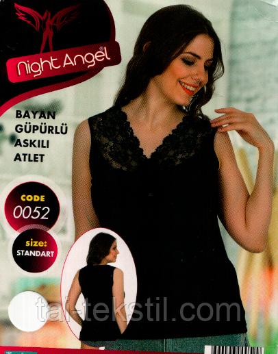 Night Angel женские  майки отличного качества (Черный,белый цвет) МНОГО МОДЕЛЕЙ