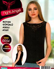 Night Angel женские  майки отличного качества (Черный,белый цвет) МНОГО МОДЕЛЕЙ, фото 3
