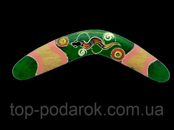 Бумеранг расписной деревянный размер 31.5*12*1 см